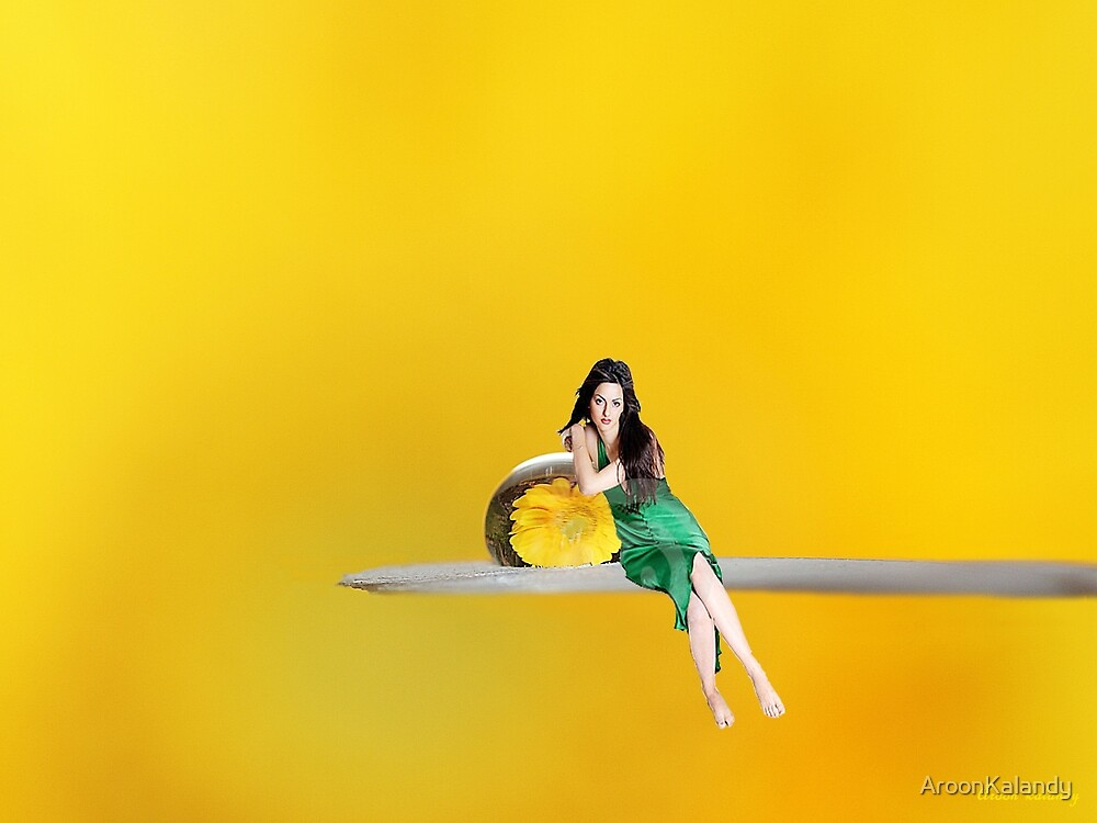 The Girl and The Drop.. by AroonKalandy