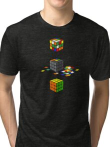 How to solve the Rubik's Cube Tri-blend T-Shirt
