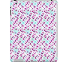 Teal Blue and Pink Abstract Floral Watercolor iPad Case/Skin