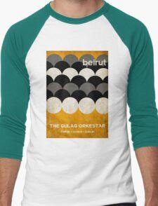 Beirut World Tour Poster Men's Baseball ¾ T-Shirt