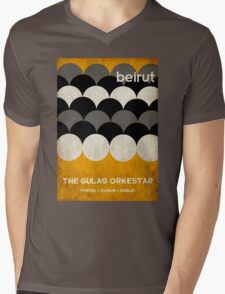Beirut World Tour Poster Mens V-Neck T-Shirt