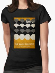 Beirut World Tour Poster Womens Fitted T-Shirt