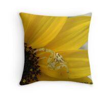 SPIDER ON FLOWER Throw Pillow