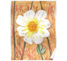 Single White Flower Poster