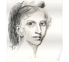 Sketch of portrait by Gilbert Stuart Poster