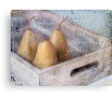 Three Pears Canvas Print