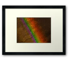 Rainbow on Stone Framed Print