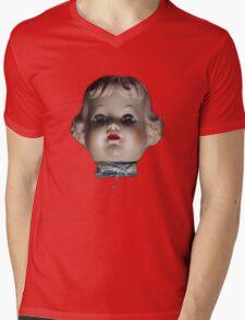 Doll Head T-Shirt Mens V-Neck T-Shirt