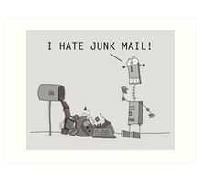 I Hate Junk Mail Art Print