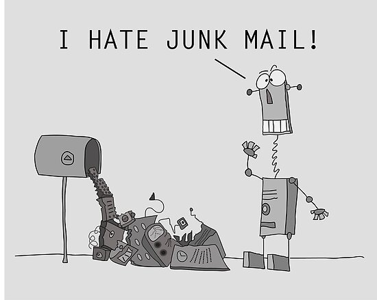 I Hate Junk Mail by martoon
