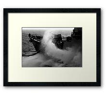 Beware Random Waves Framed Print