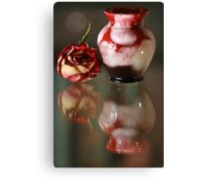 The Little Red Jar and The Red Rose Canvas Print