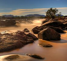 Orange river by moonlight by Rudi Venter