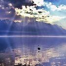 Sunbeams Over Lake Geneva by Aj Finan