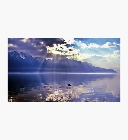 Sunbeams Over Lake Geneva Photographic Print