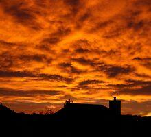 Colorado Eastern Sunrise - Colorado Springs by Cari Graves