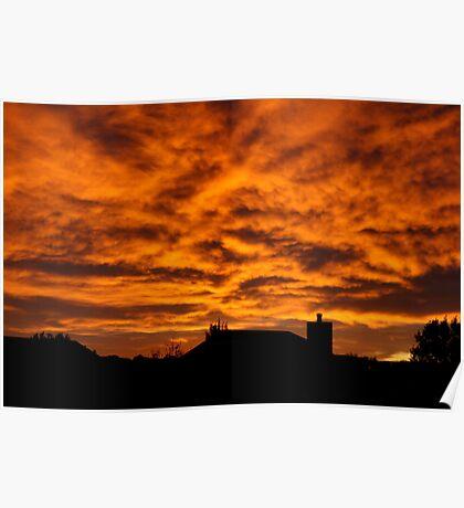 Colorado Eastern Sunrise - Colorado Springs Poster