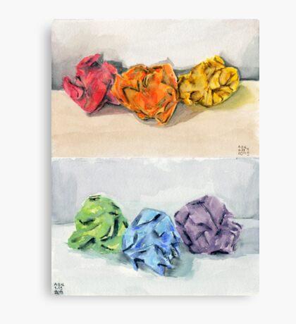 Crumpled Series Print Canvas Print