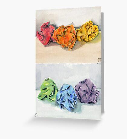 Crumpled Series Print Greeting Card