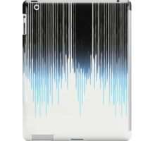 Modern Black to Blue Gradient Paint Drips iPad Case/Skin