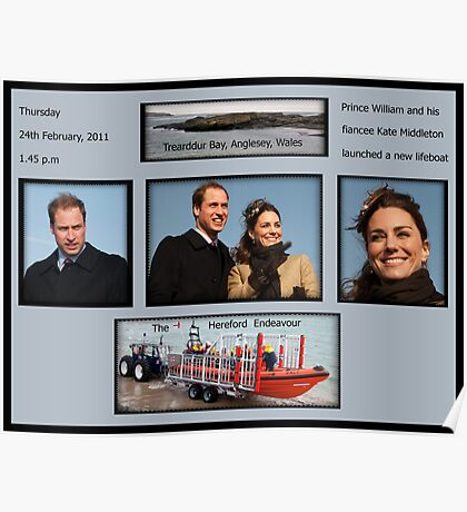 Launch of a lifeboat Poster