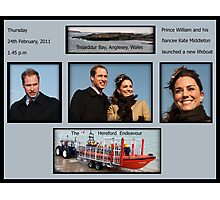 Launch of a lifeboat Photographic Print
