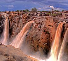 Augrabies falls, smaller streams by Rudi Venter