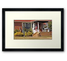 Patriotic little house entrance Framed Print