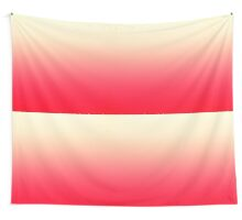 Trendy Neon Red to Vintage White Ombre Gradient Wall Tapestry
