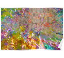 Pastel power grid Poster