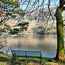 Overlooking Ullswater. by Lilian Marshall