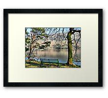 Overlooking Ullswater. Framed Print