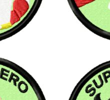 Superhero Geek Merit Badge Sticker