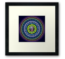 The magical eye mandala Framed Print