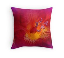 Red Freesia (Iridaceae) Throw Pillow