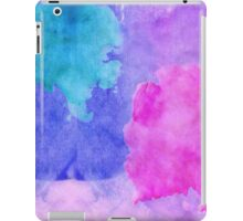 Pink, Purple, Teal, and Blue Watercolor Smudges iPad Case/Skin
