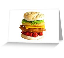 1:12th Scale Chicken Tower Burger Greeting Card