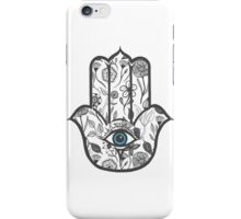 Simple Hand Drawn Floral Hamsa Hand iPhone Case/Skin
