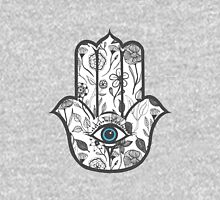 Simple Hand Drawn Floral Hamsa Hand Unisex T-Shirt