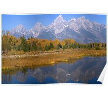 Grand Teton Autumn Reflections Poster