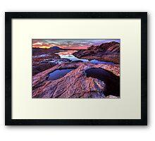 Cliff Puddles Framed Print