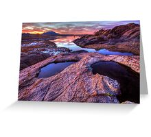 Cliff Puddles Greeting Card