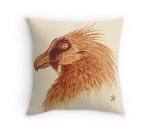 Bearded Vulture Throw Pillow