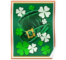 Irish Hat and Shamrocks _ Poster