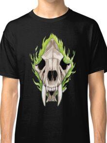 Flaming Skulls - Sabre Toothed Tiger Classic T-Shirt