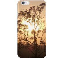 sunrise behind tree iPhone Case/Skin