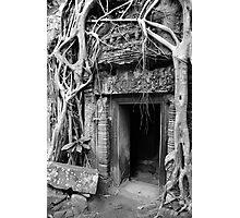 Doorway at Ta Prohm temple Photographic Print