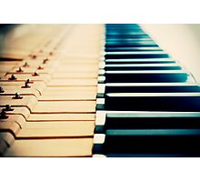 Piano Keyboard Photographic Print