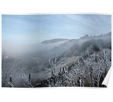 Freezing fog in Clydach Gorge Poster