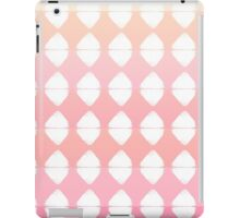 Summer Coral & White Triangle Brush Stroke Stamps iPad Case/Skin